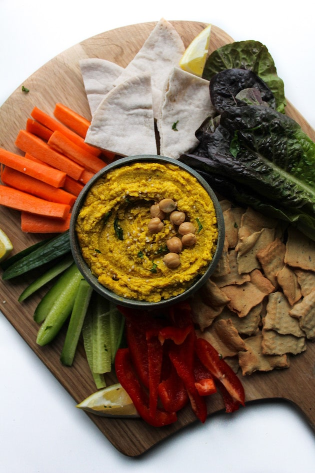 Ginger and Tumeric Hummus