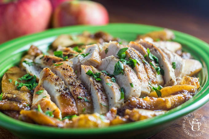 Pan Seared Chicken with Apples and Pears