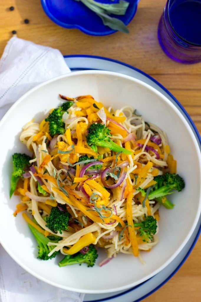 Butternut Squash and Broccoli Pasta with Sage