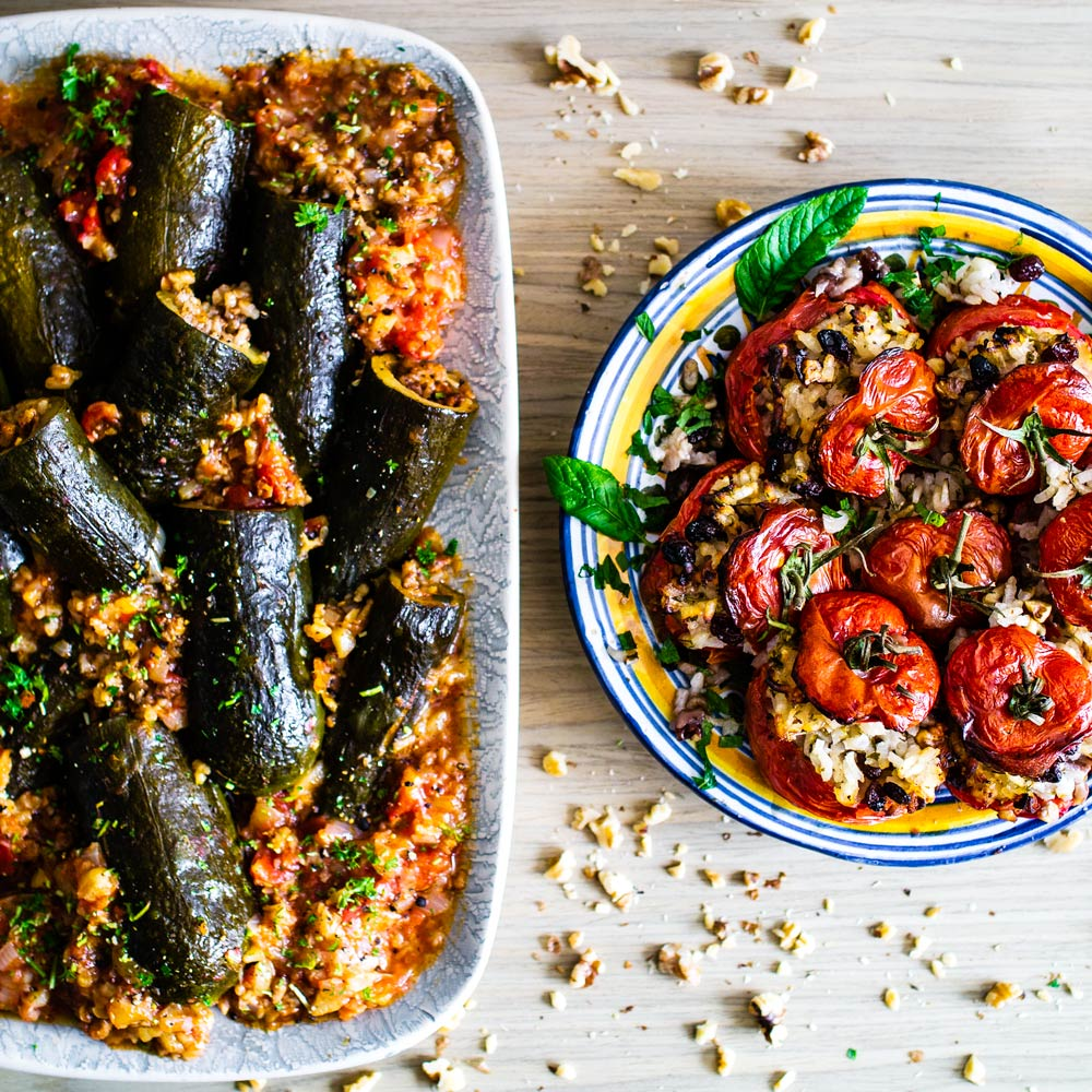 Israeli Stuffed Tomatoes And Courgettes