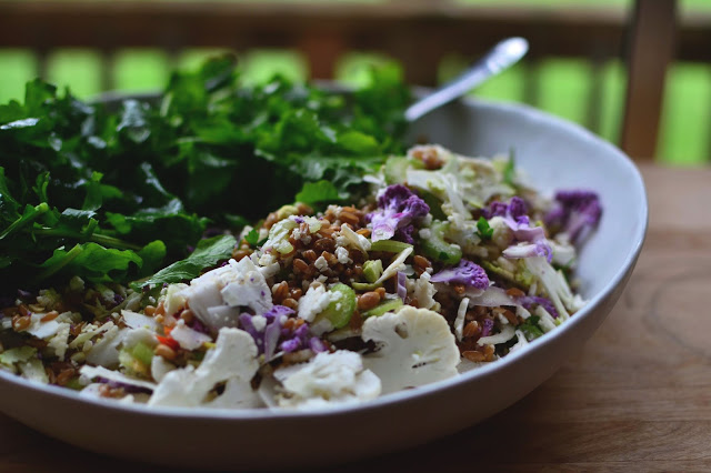 Shaved Cauliflower And Farro Salad