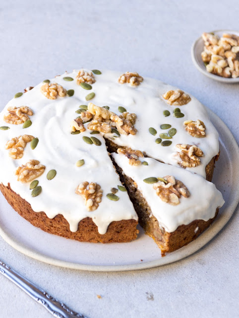 Carrot Cake With Cashew Icing