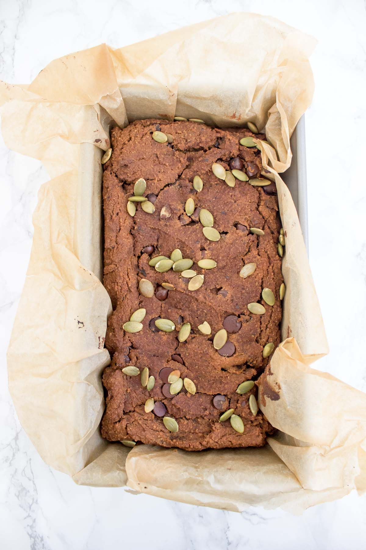 One Bowl Chocolate Pumpkin Bread