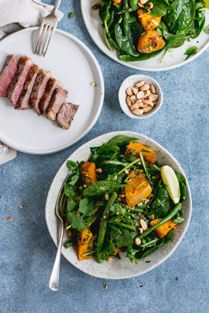 Thai Beef Salad With Caramelized Pumpkin And Green Beans