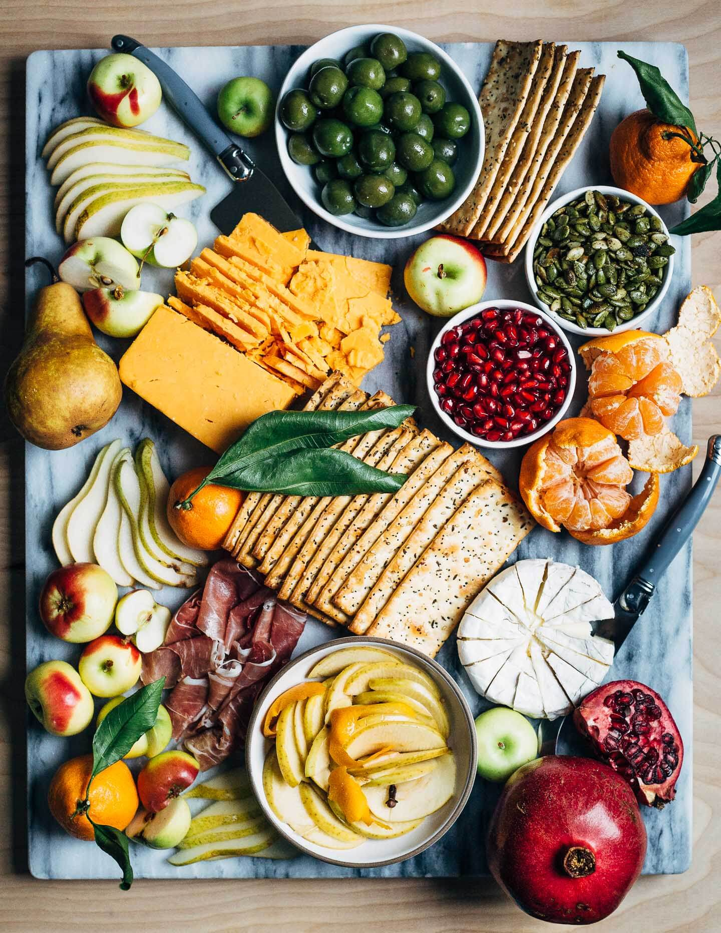 Holiday Cheese Board Pickled Apples10