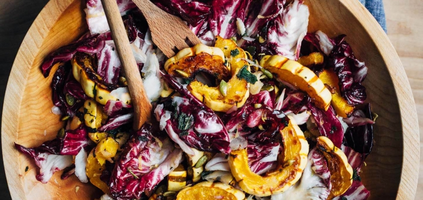 Roasted Delicata And Radicchio Salad21