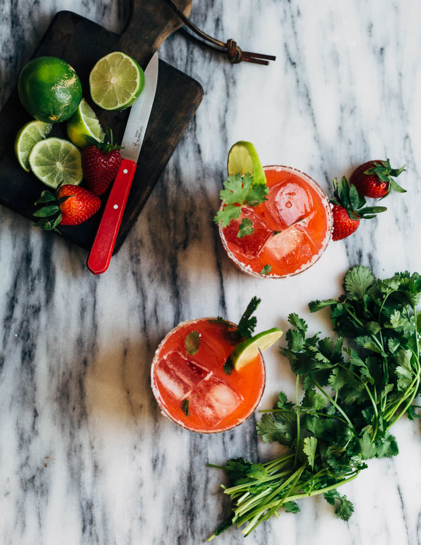 Strawberry Margaritas With Cilantro11