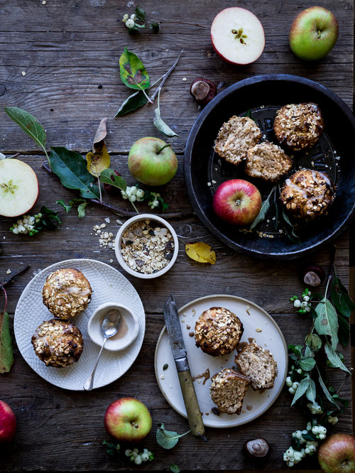 Vegan Apple Muesli Breakfast Muffin